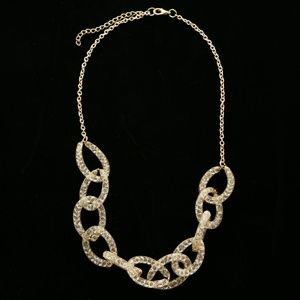 Luxury Crystal Necklace Gold NWOT